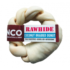 Anco Coconut Rawhide Braided Donut Medium